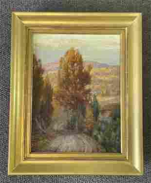 Gustav Wiegand Oil on Canvas Fall Landscape