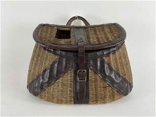 Vintage Trout Creel w/ Leather Trim