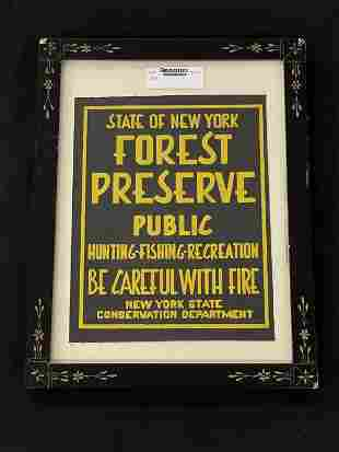 """NYS Forest Preserve Cloth Sign 9"""" x 11"""""""
