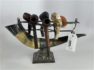 Silver Horn Pipe Rack