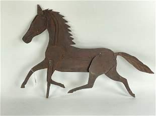 Early Running Horse Sheet Metal Weathervane