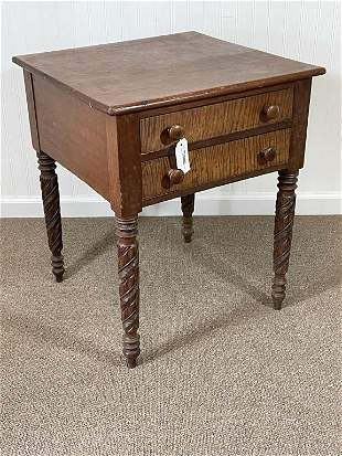 Cherry & Curly Maple 2 Drawer Stand