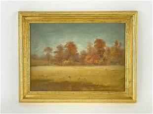 George W. King Autumn Landscape Oil on Board