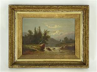 Western Landscape Oil on Canvas Painting