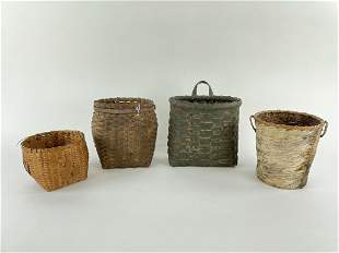 4 Small Adirondack Baskets