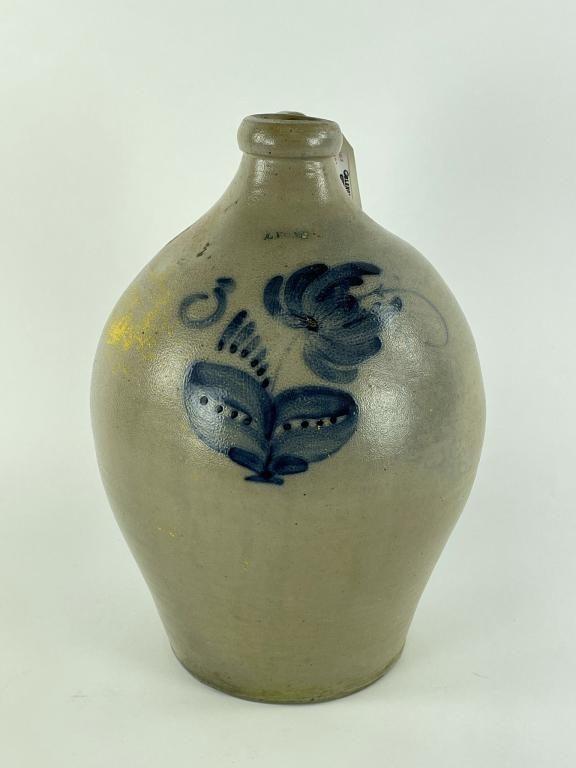 Lyons, NY Ovoid Stoneware 3 Gallon Jug