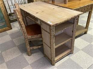 Rustic Kneehole Desk w/ Chair