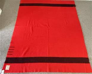 Hudson Bay Red and Black Wool Blanket