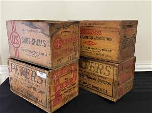 4 Wooden Ammo Crates
