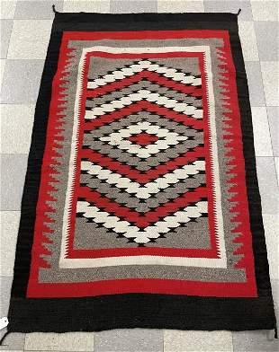 Navajo Blanket - Red / White / Black - 4' x 6'