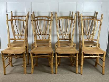 "8 Barry Gregson ""Adirondack Rustics"" Dining Chairs"