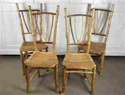 "4 Barry Gregson ""Adirondack Rustics"" Dining Chairs"