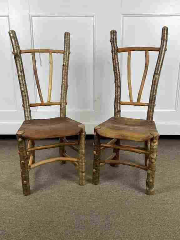 "2 Barry Gregson ""Adirondack Rustics"" Youth Chairs"