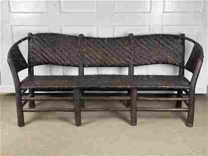 Early Old Hickory Triple Seat Sofa