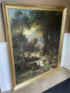 Oil on Canvas European Landscape Painting
