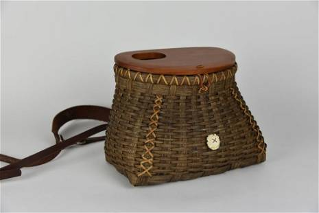 Contemporary Hand Woven Creel w/ Cherry Lid