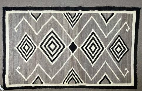 "Navajo Rug w/ Diamonds - 48"" x 78"""