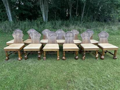 12 Lester Santos Western Dining Chairs