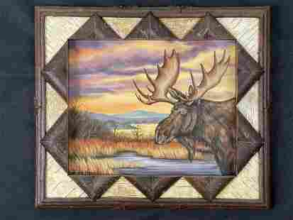 Jessica Farrell Oil Painting of Moose