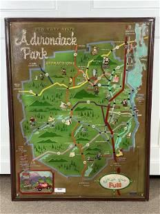 Arto Monaco Relief Map of the Adirondack Park
