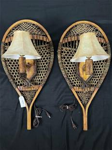 Pair of Snowshoe Wall Sconces