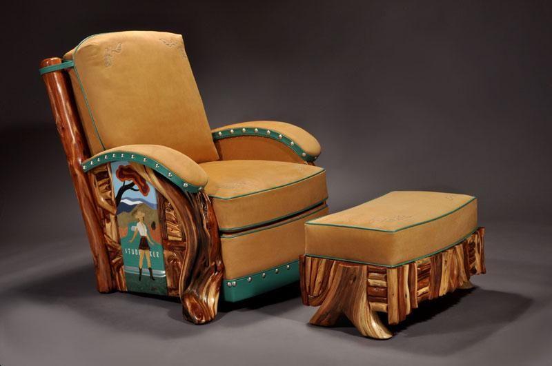 Studebaker Route 66 Club Chair & Ottoman