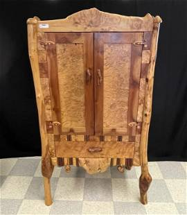 Museum Quality Two Door Cabinet by Steve Chisholm