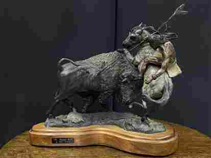 """""""The Wounded Bull"""" Bronze by James Marsico"""