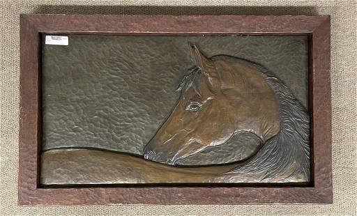Amber Jean Bronze Horse Wall Plaque
