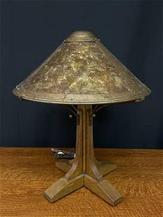 Stickley Table Lamp with Copper & Mica Shade