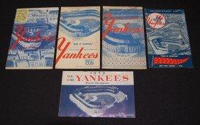 1: 5 Yankees 1950's Programs