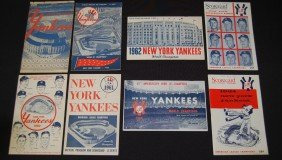 8 Yankees 1950's And 1960's Programs