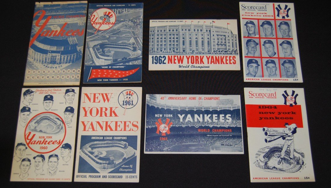2: 8 Yankees 1950's and 1960's Programs