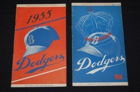 1955 & A 1956 Dodgers Official Program & Scorecard