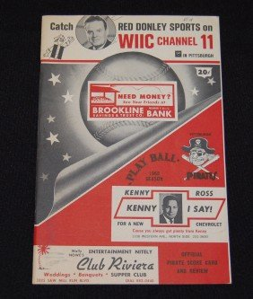 7: 1965 Pittsburgh Pirates Official Scorecard & Review