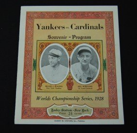 10: 1928 Yankees vs Cardinals Souvenir Program