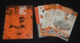 12: 8 Baltimore Orioles Scorecard and Review Booklets