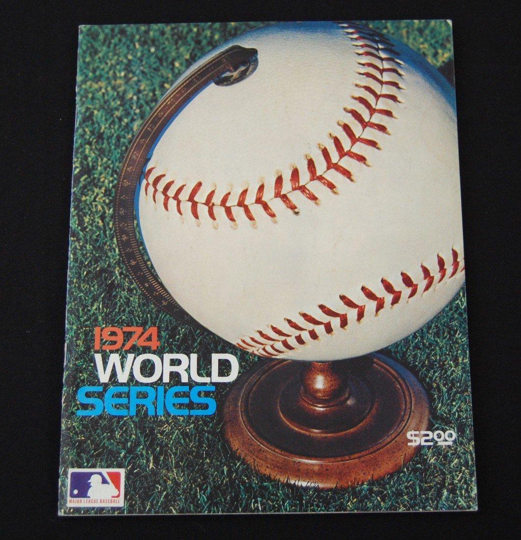 18: 1974 World Series Program