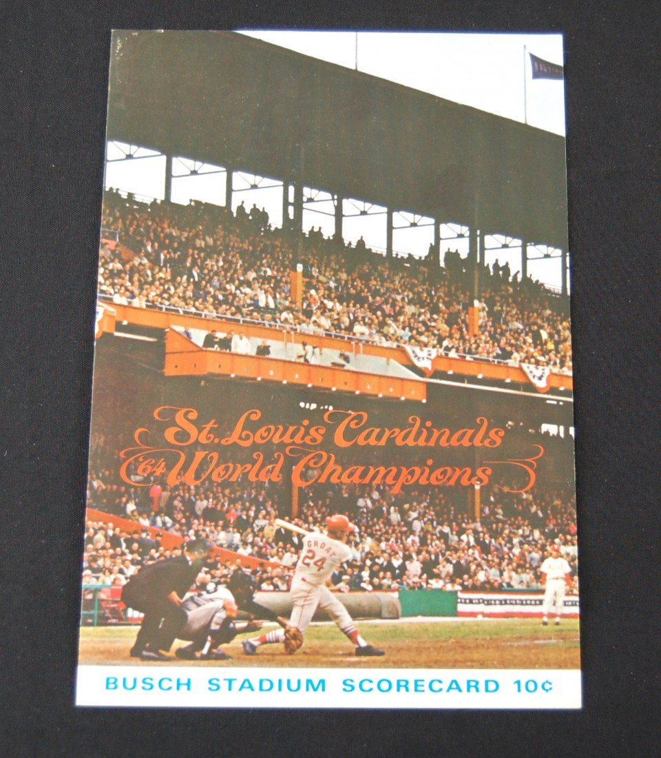 20: 1964 St.Louis Cardinals Scorecard