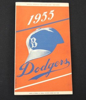 21: 1955 Dodgers Official Program and Scorecard