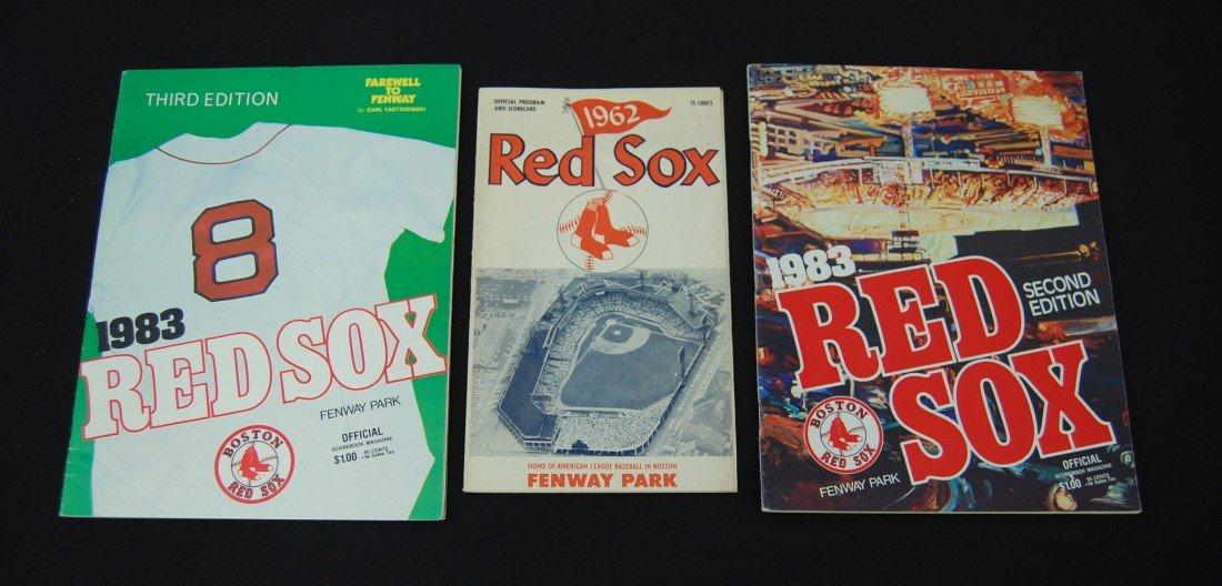 24: 3 Boston Red Sox Programs