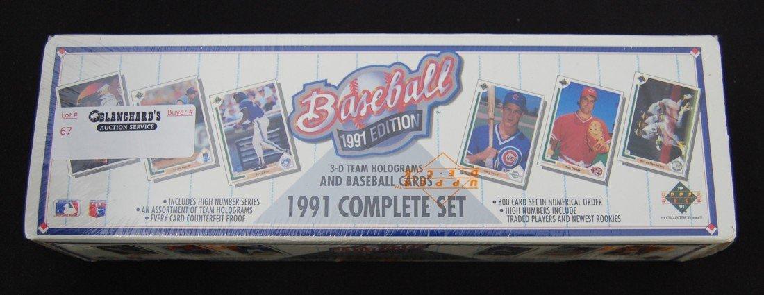 67: 1991 Upper Deck Baseball Card Complete Set