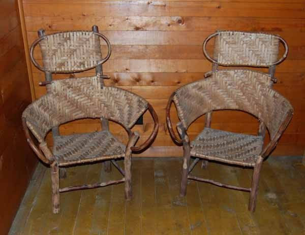 9: 2 Old Hickory youth chairs