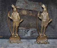 30: American Indian andirons