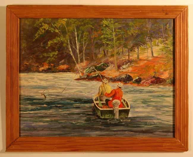 19: Bill Gill Oil on Board