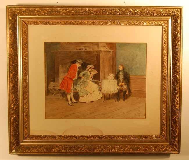 27: Leon Moran (1864-1941) Watercolor