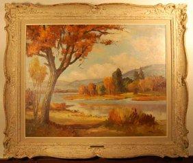 Rudolf Cserjes Oil On Canvas