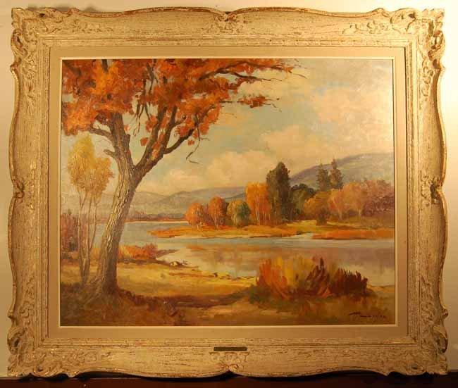 34: Rudolf Cserjes Oil on Canvas