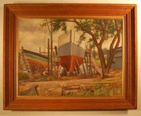 Antonio Scilipoti (1884-1967) Oil On Canvas