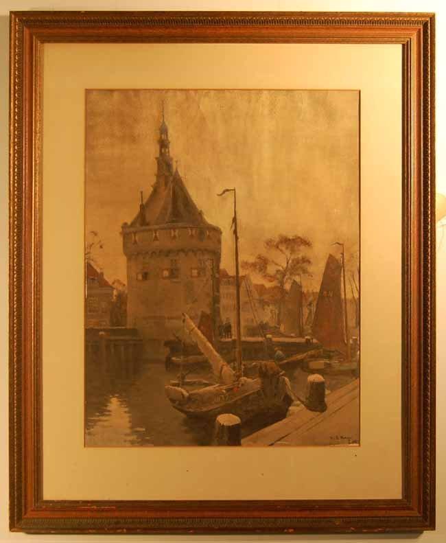 45: Willem Alexander Knip (1883-1967) Gouache